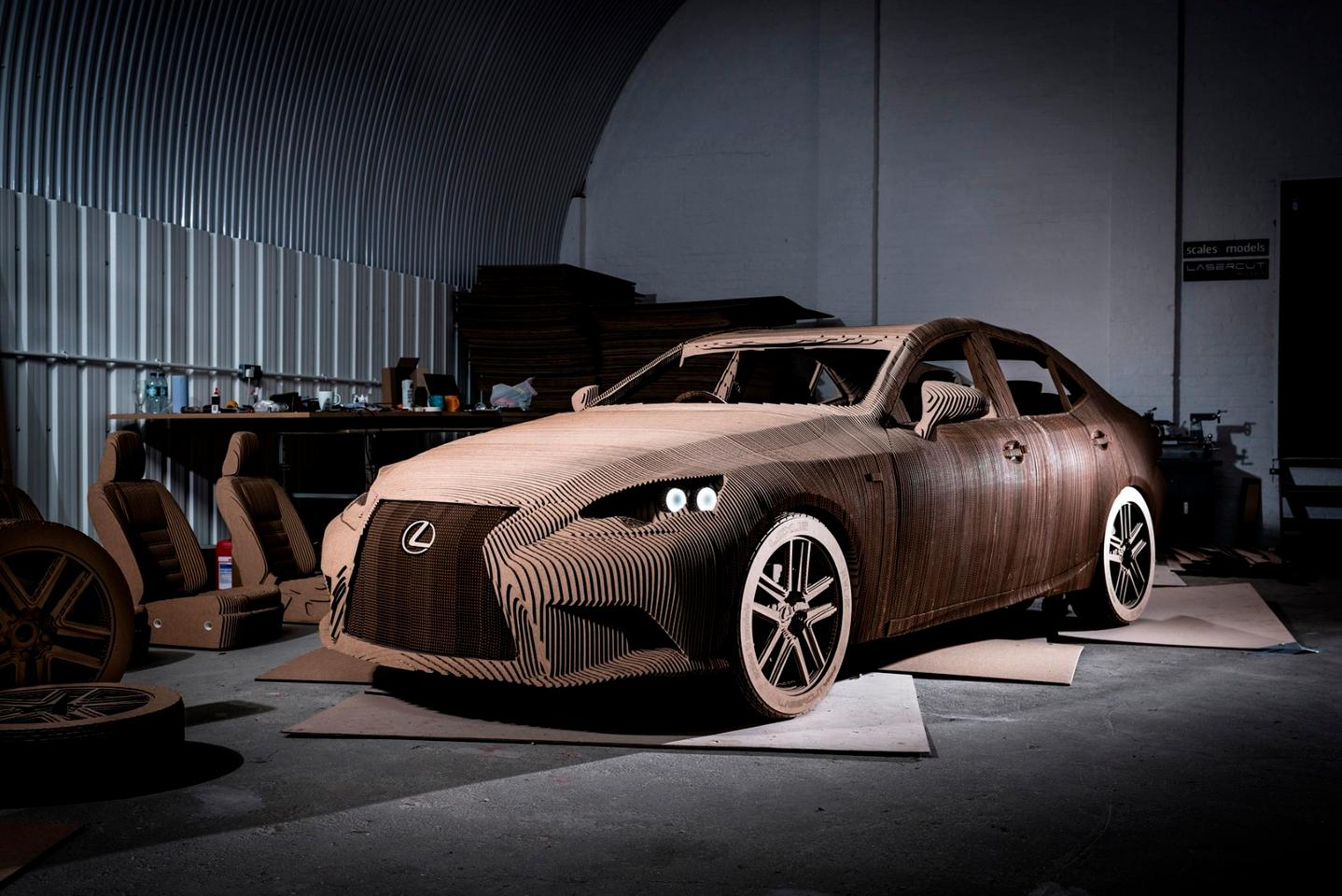 The Origami Car is made of 1,700 cardboard sheets