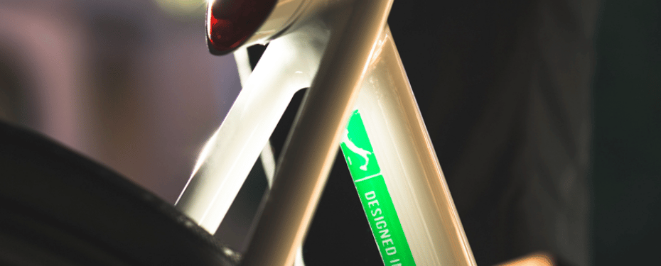 There's a light integrated into the back of the bike