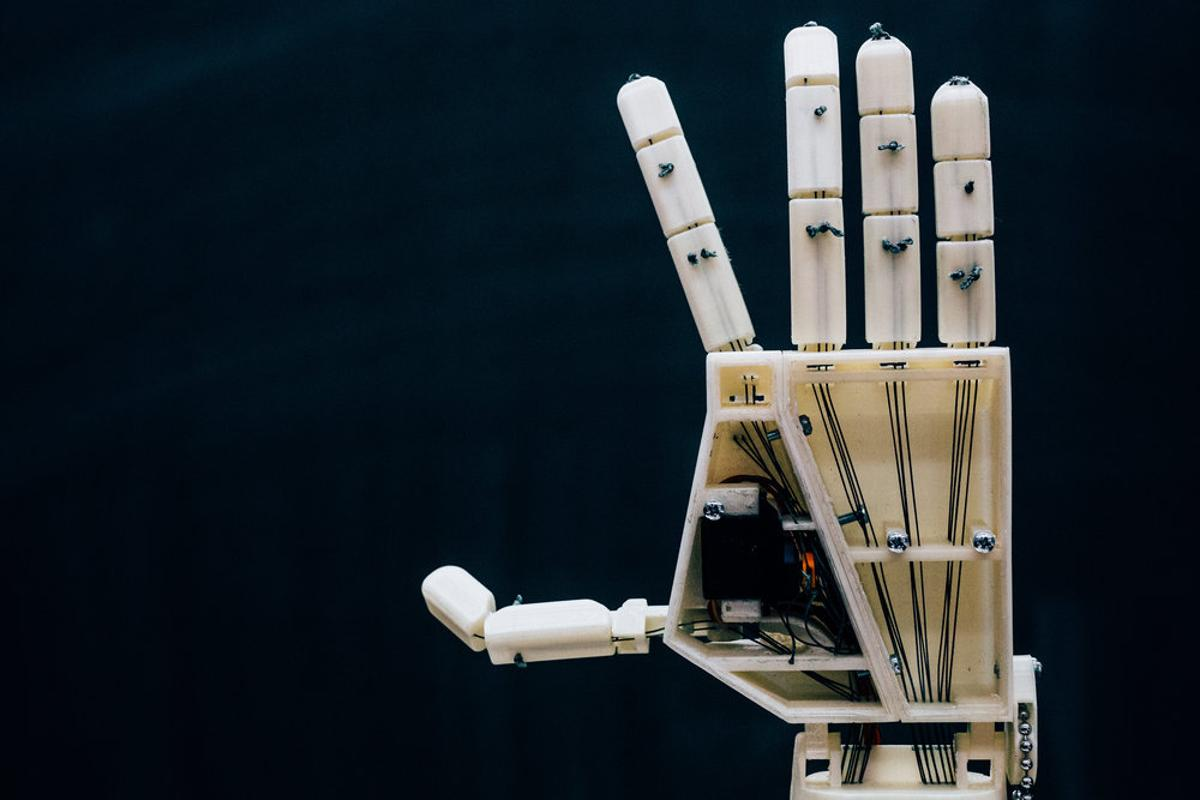 Project Aslan is a robot hand that can translate text into sign language