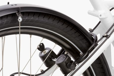 The ABUS lock on the Load e-bike
