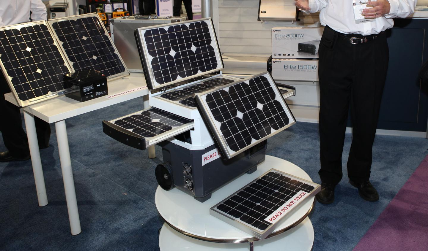 Wagan Tech's five-panel solar-powered generator
