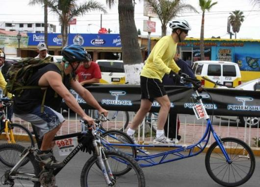 The elliptiGO bike offers the bike rider an opportunity to run while they cycle