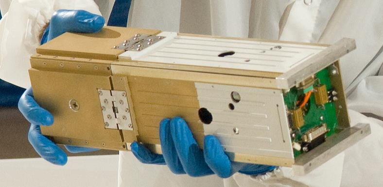 Triple CubeSat with deploying solar sail (Photo: NASA)