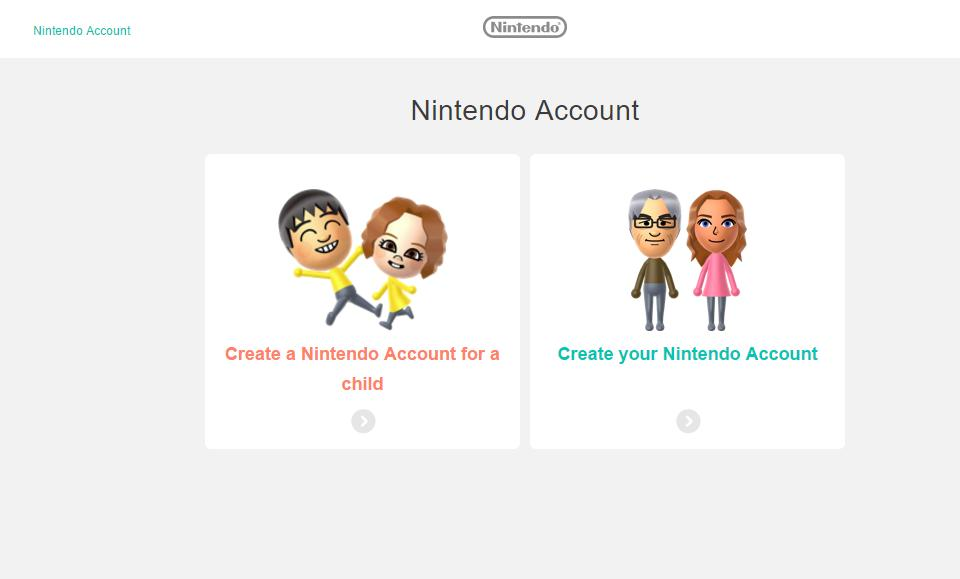 Your Switch will prompt you to set up a Nintendo account on a computer or mobile device
