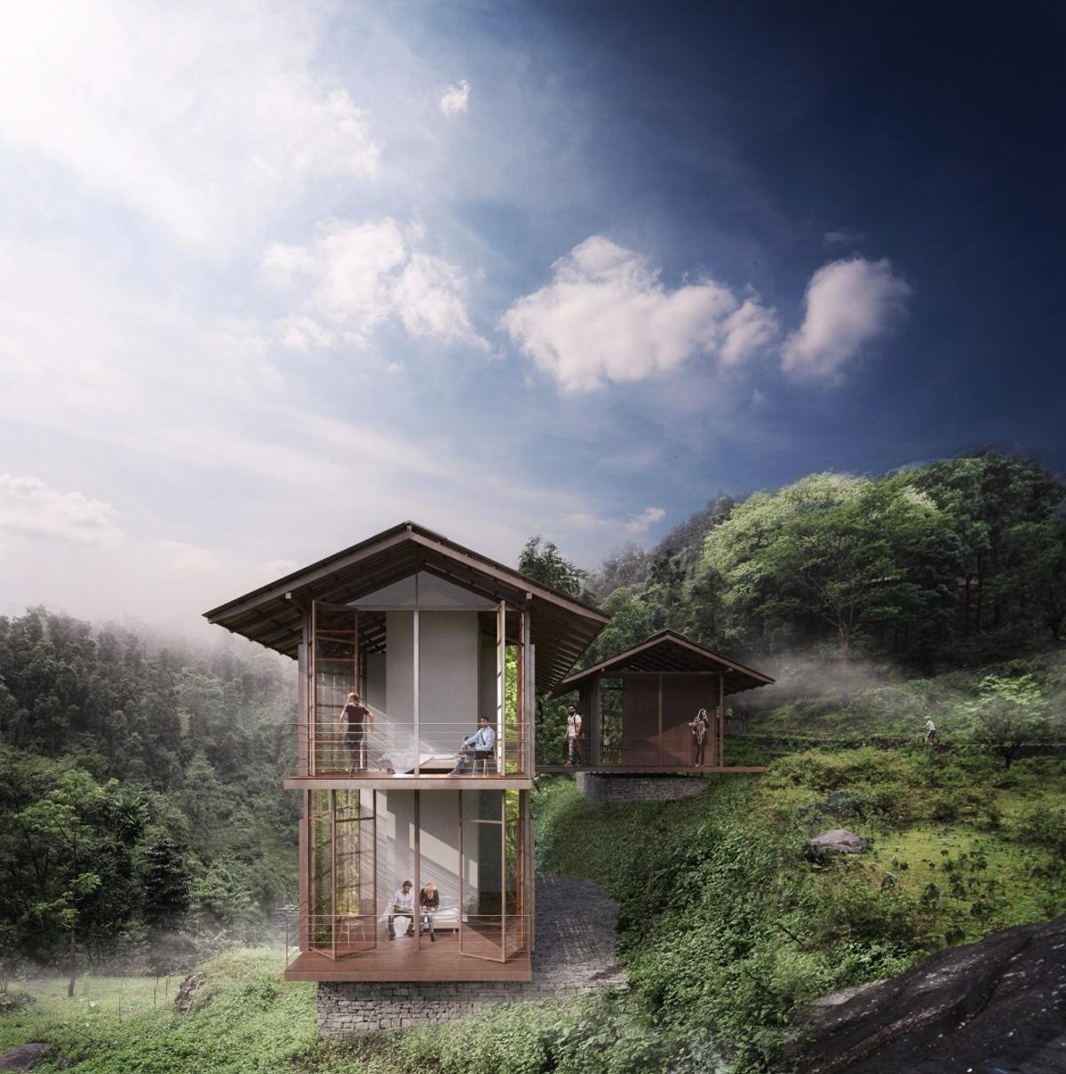 ThePankhasari Retreat willbe located in a valley in the Darjeeling region of West Bengal, India