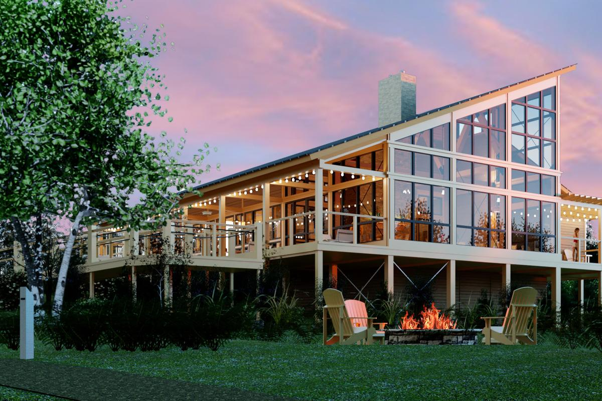 Along with its glassy main lodge and individual tents, Terramor will include outdoor spaces to gather and socialize