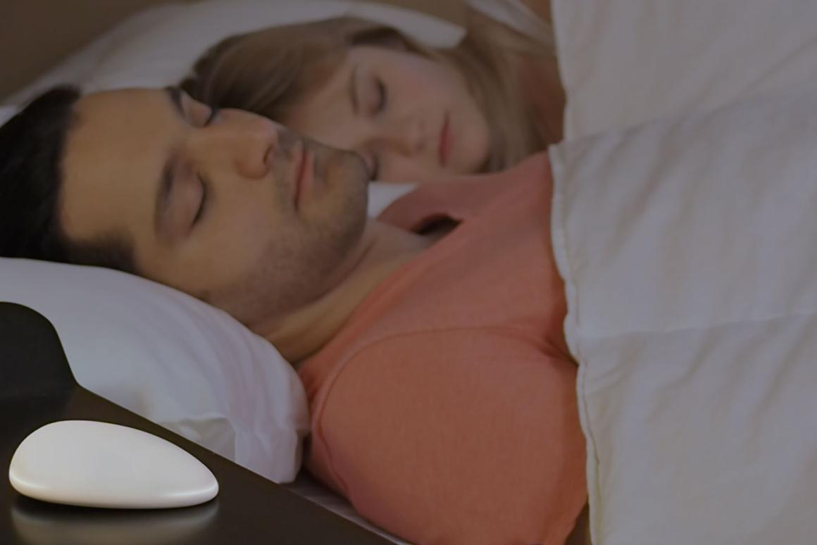 The Nora wireless mic (bottom left) detects snoring and sets out to stop it