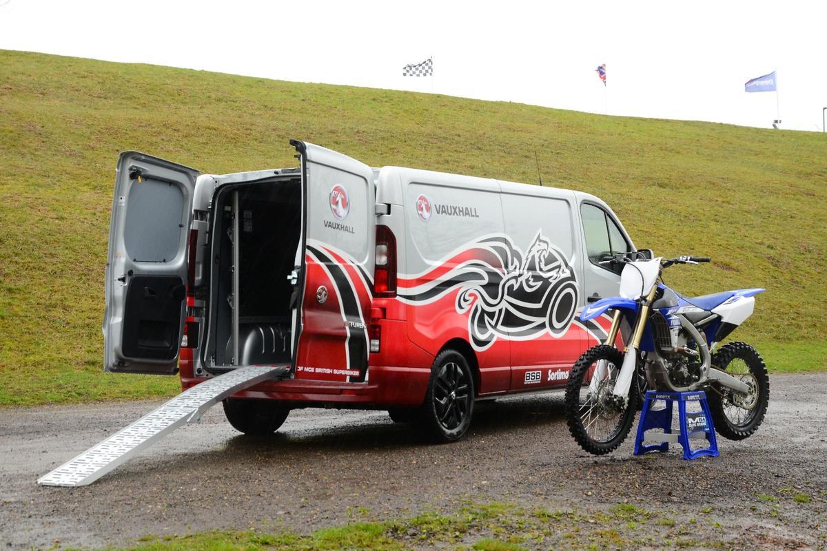The Vivaro Race Van Concept ready to roll with a Yamaha YZ450F