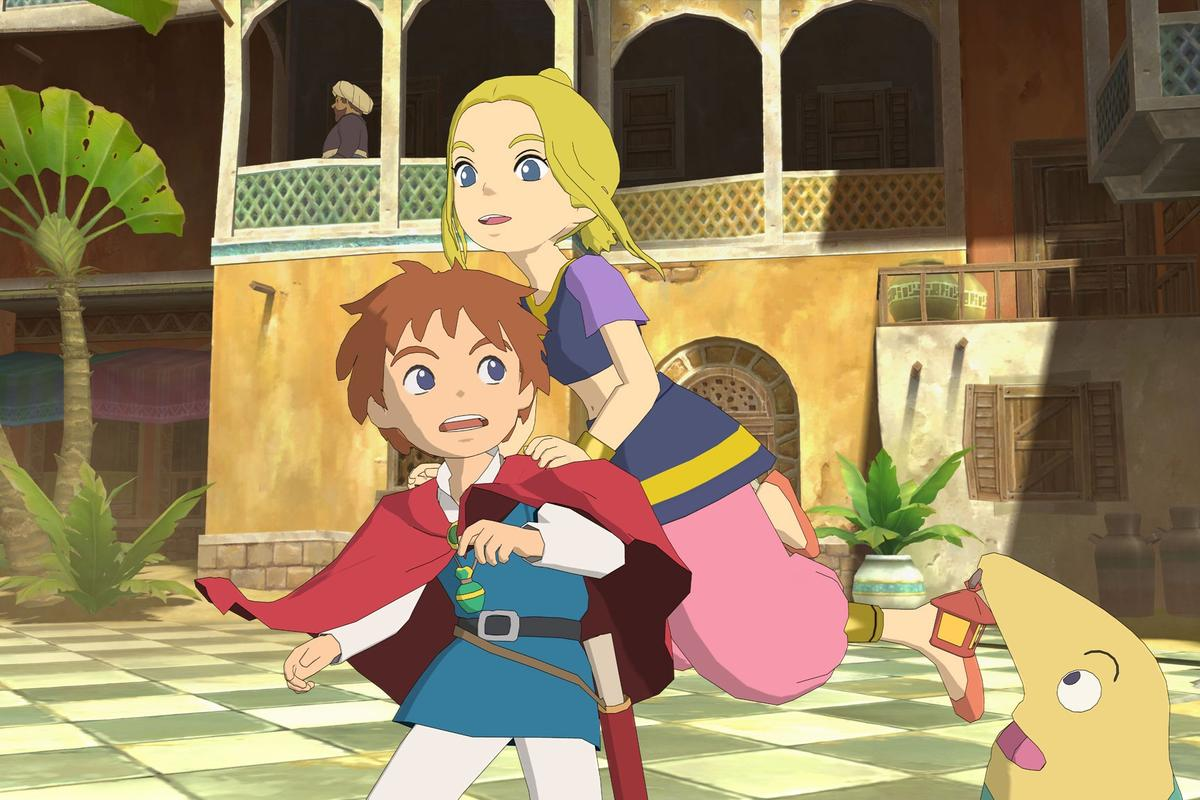 Level-5's Ni no Kuni: The Wrath of the White Witch successfully recreates the hand-drawn look of Studio Ghibli's animated films in-game