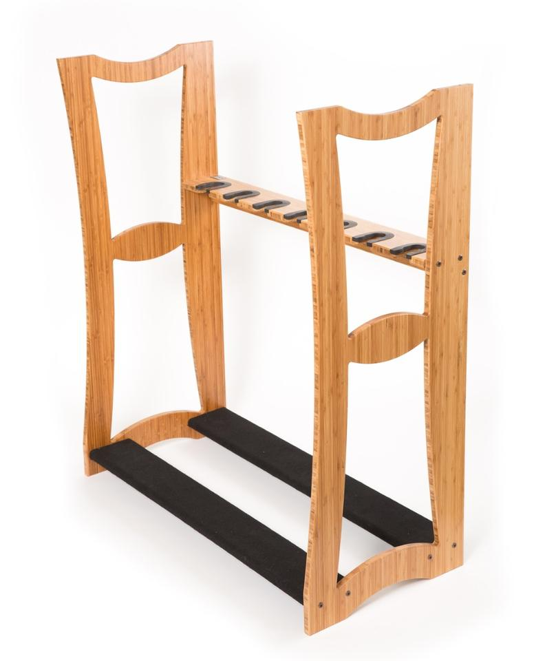 The Bravo rack can take up to seven instruments and features four pins to allow the Alpha unit to be positioned on top