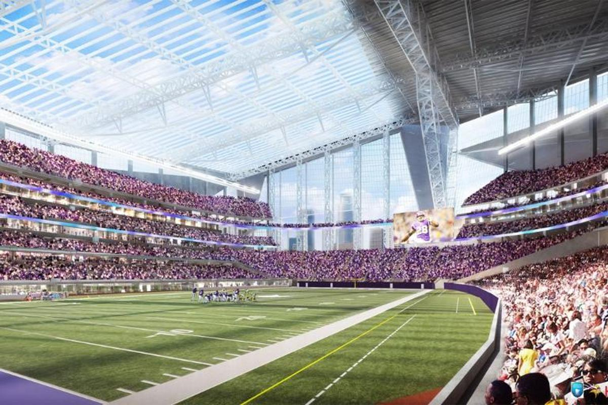 The southern half of the stadium will boast the world's largest transparent roof