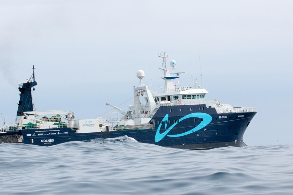 The trawler Molnes has been outfitted with the new fish-processing technology