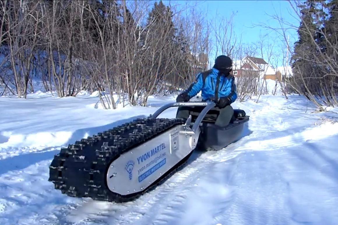 """The MTT-136 (short for """"My Track Technology"""" and the 136 inch snowmobile tread) is capable of doing the grunt work across some very tough terrain"""