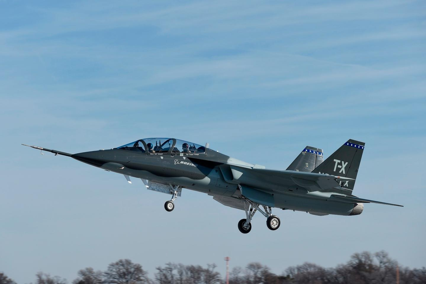 Boeing and Saab completed the first flight of their all-new T-X aircraft