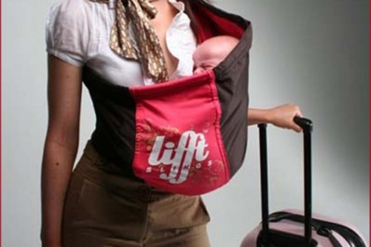 The Liftt baby sling offers comfort, support and, most importantly, a touch of style