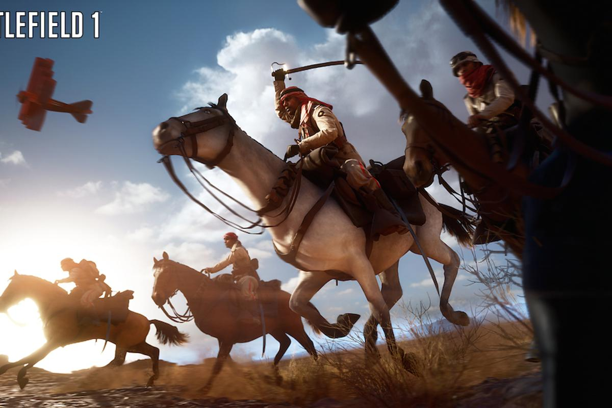 Battlefield 1 is set during World War I, and features period vehicles like horses, tanks and bi-planes