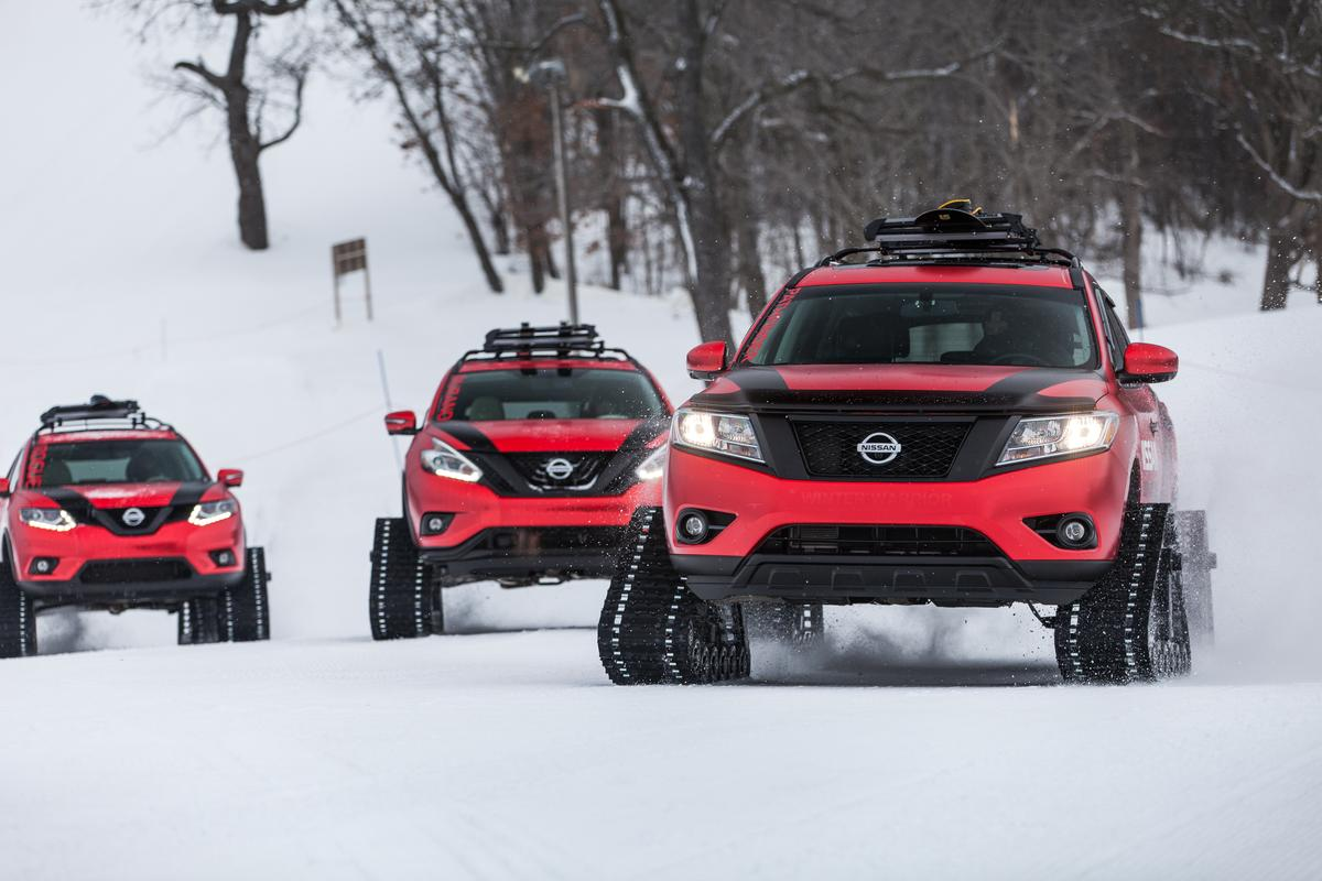 Nissan reveals a trio of Winter Warriors in time for the Chicago Auto Show