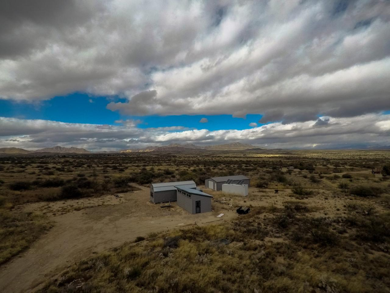 Nestled just outside of Dragoon, Arizona, sits this off grid tiny home.
