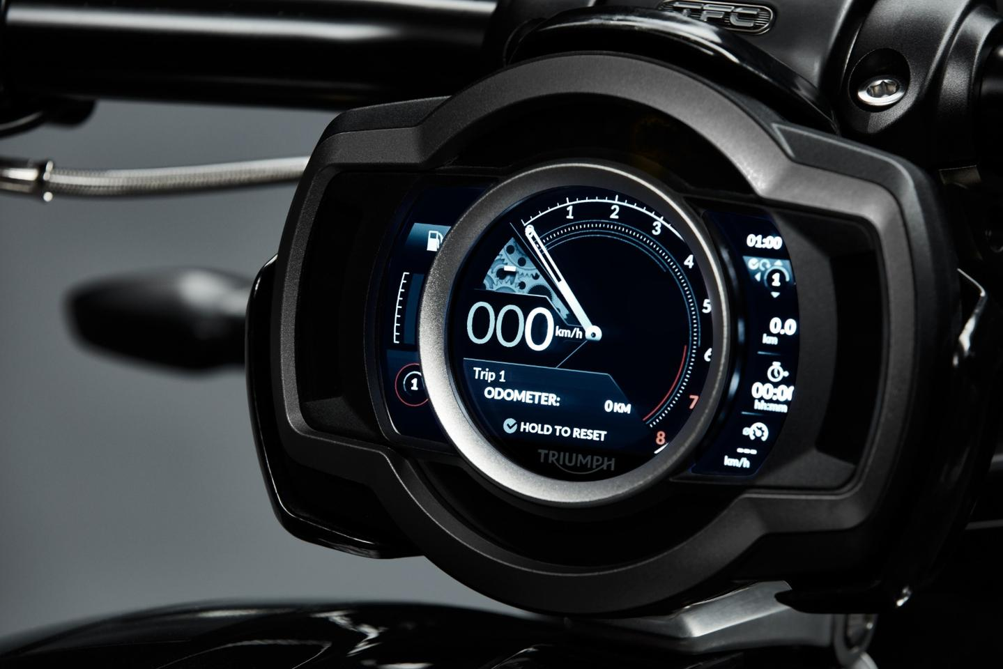 A new TFT dash – Triumph's dashes lately have been very dashing