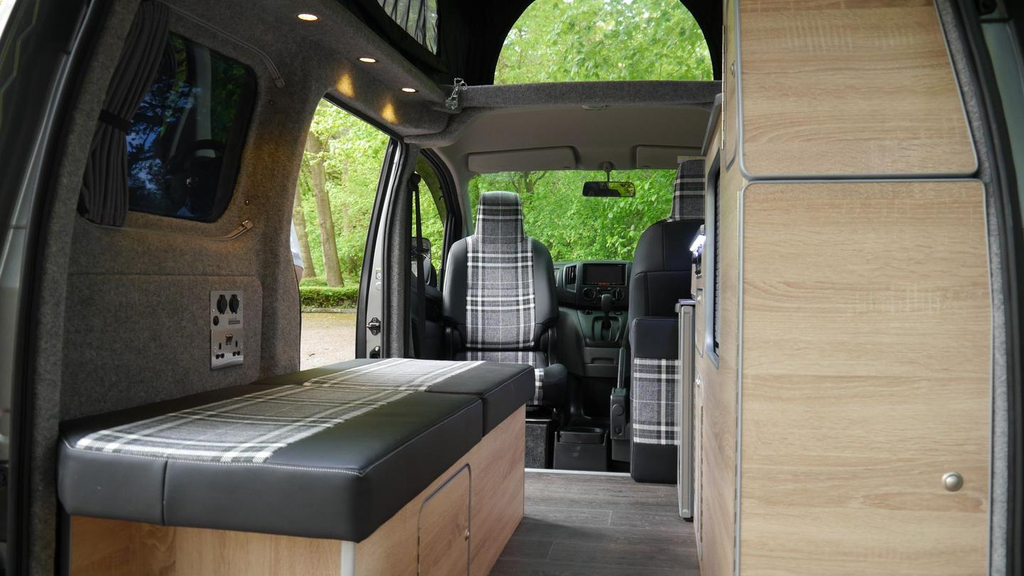 The single-sleeper layout clears some space in the center for cargo and moving around