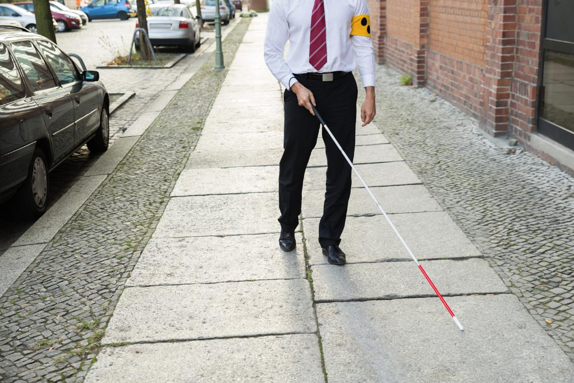 The XploR cane features facial recognition and GPS navigation systems (Photo: Birmingham City University)