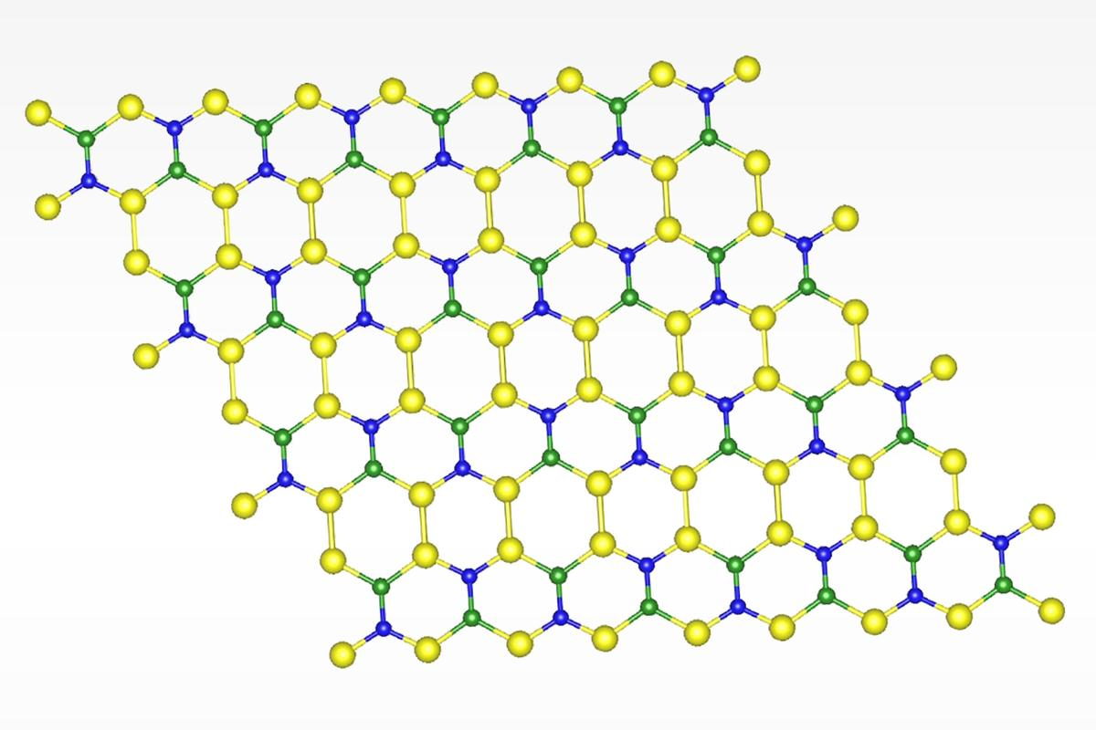 The new material is made up or boron, nitrogen and silicon, and could one day prove popular in consumer electronics
