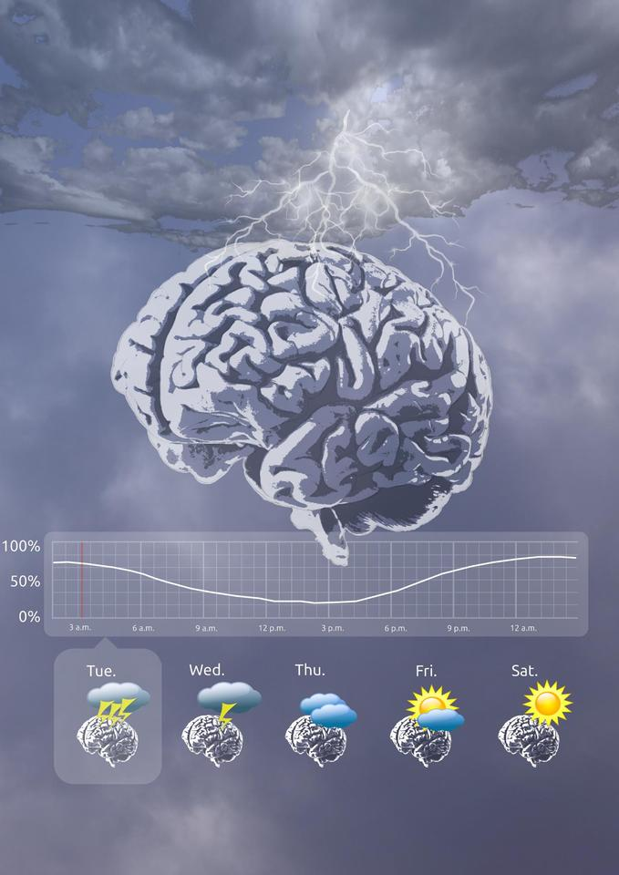 The researchers propose a system that delivers seizure forecasts, similar to weather forecasts, offering predictions of when a person is a greater risk of seizure