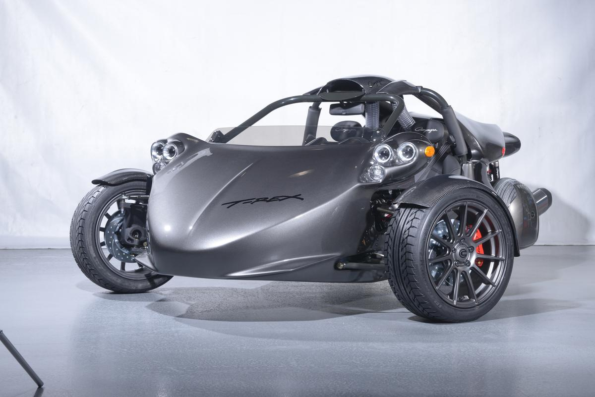 Will the all electric T-Rex prototype best the BMW-powered current model (pictured)? We'll have to wait for the Montreal Electric Vehicle Show on April 20 to find out.