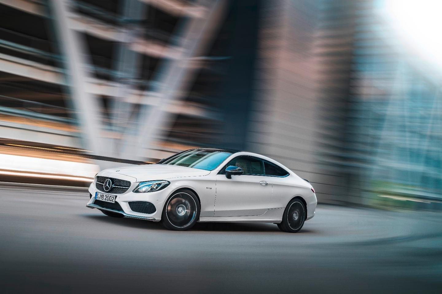 The Mercedes C43 hits 0-100 km/h in 4.7 seconds.