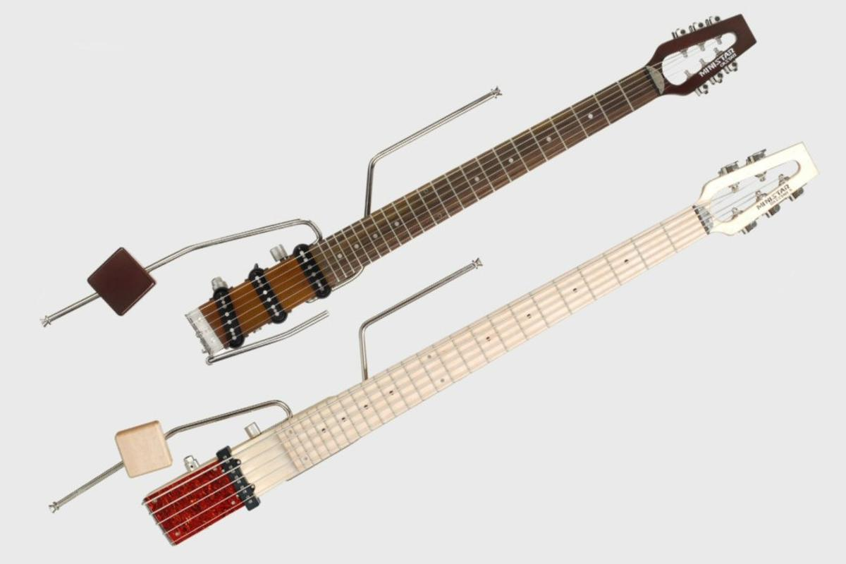 Bob Wiley's Ministar dispenses with the traditional guitar body, which adds little or nothing to its tone, and instead offers an odd-looking neck with pickups