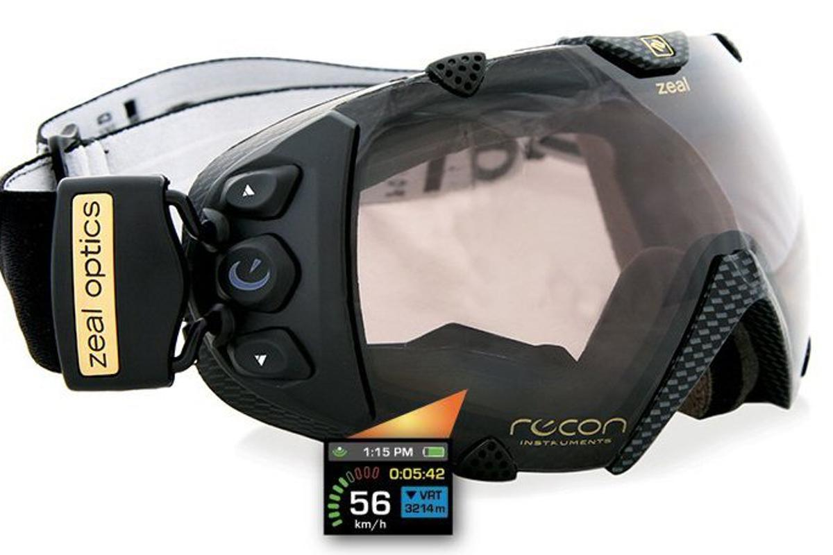 Zeal/Recon have unveiled the world's first goggles with GPS and head mounted display