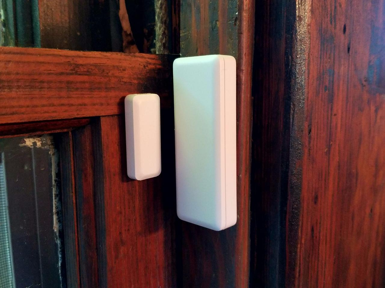 The Vivint home security system window sensors