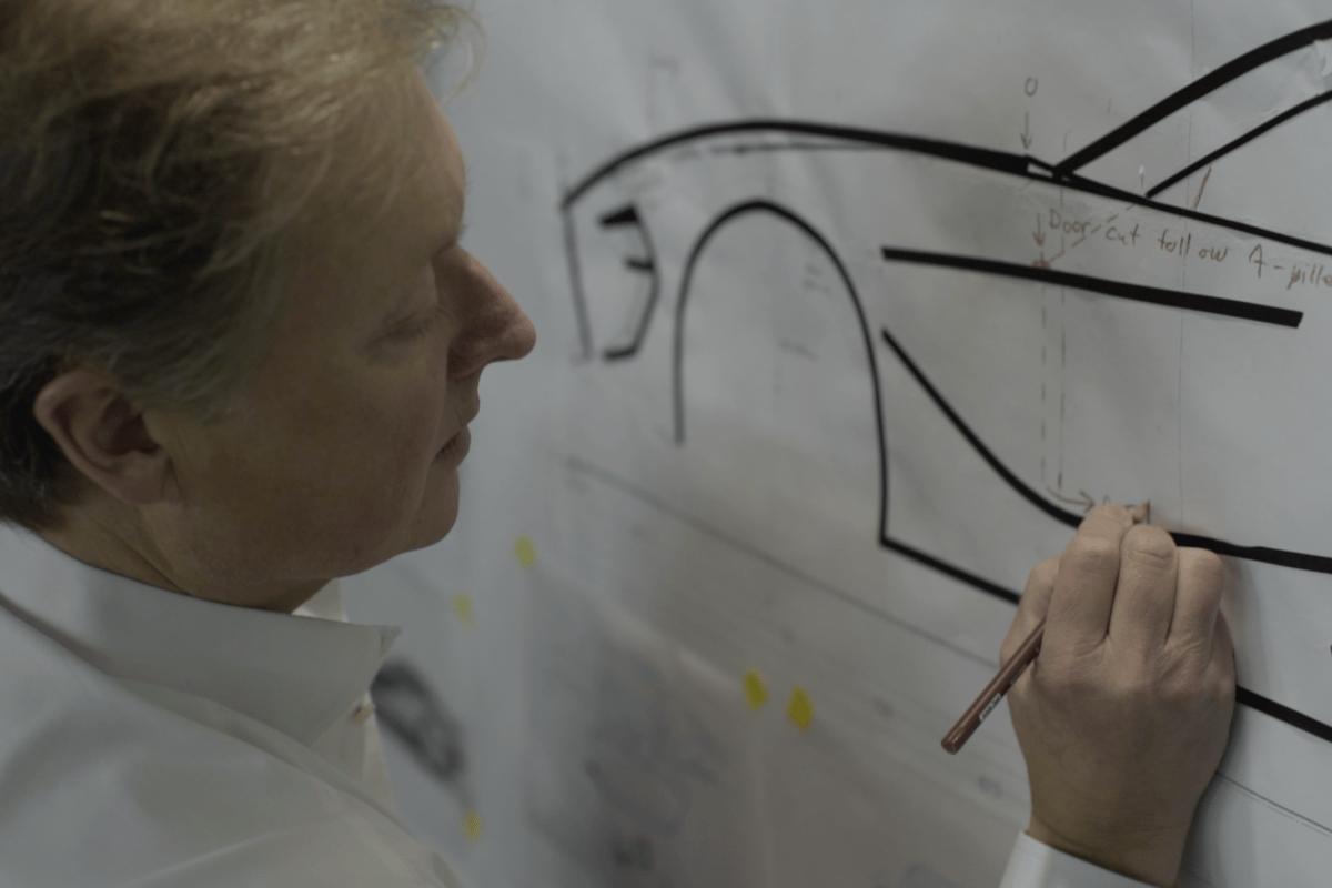 Henrik Fisker working his craft