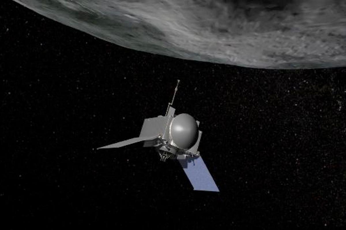 OSIRIS-REx spacecraft at asteroid Bennu (Image: NASA/GSFC/UA)
