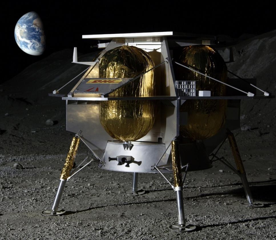 Artist's concept of the Peregrine lander