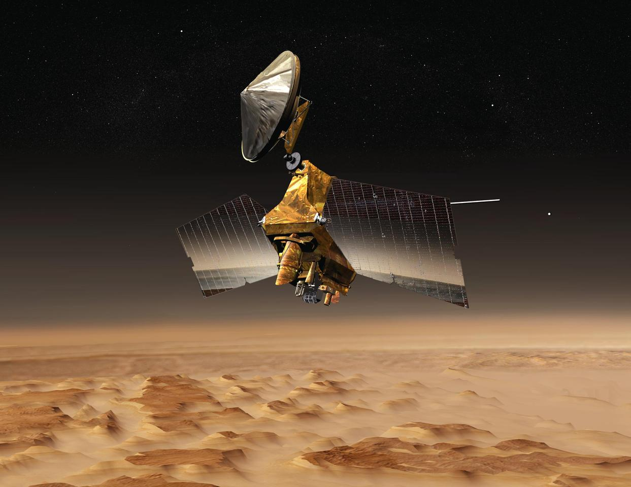 Artist's concept of the Mars Reconnaissance Orbiter (Image: NASA)