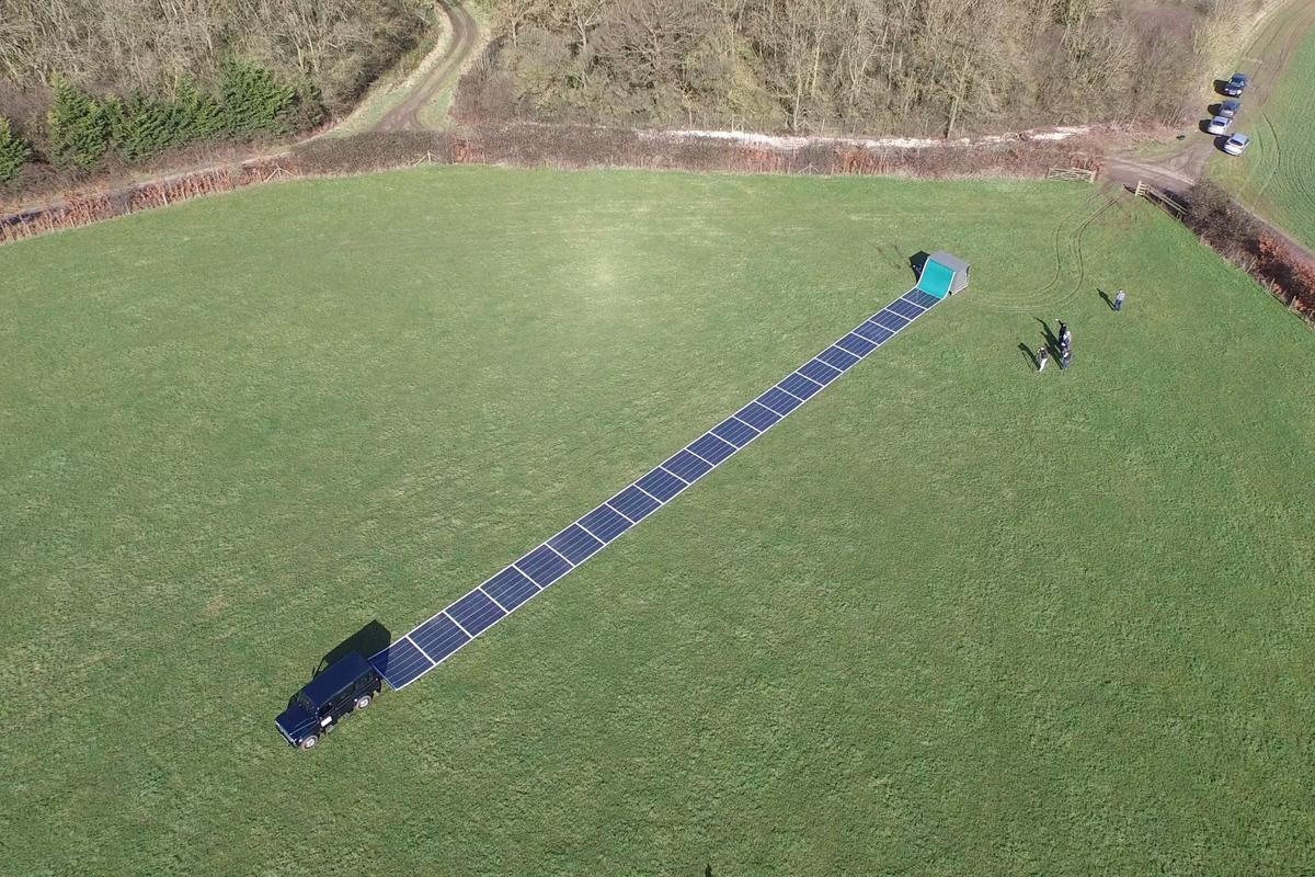 The roll-out solar panels being trials on Flat Holm Island were developed by UK firm Renovagen