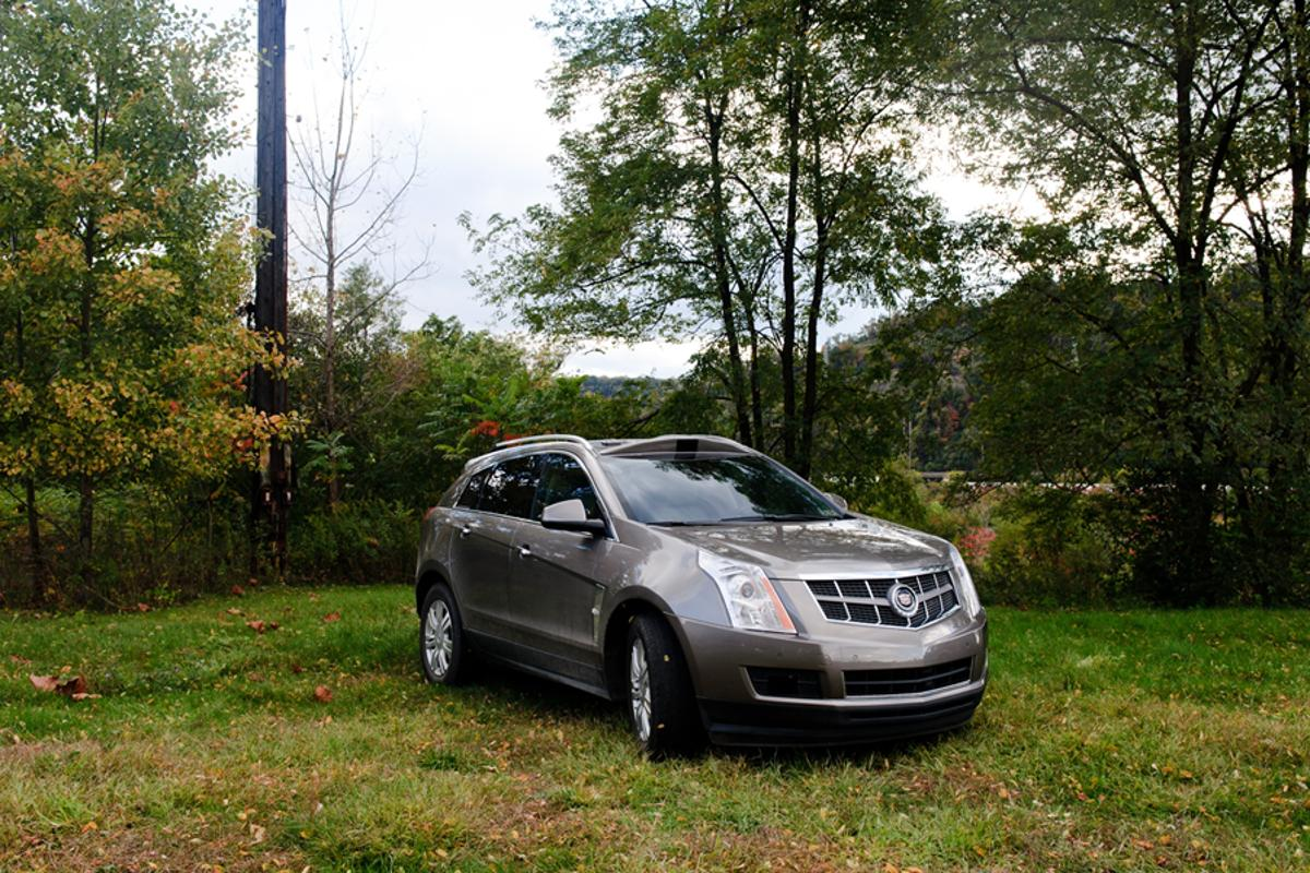 The 2011 Cadillac SRX is equipped with a 360 degree array of sensors for navigating roadways without a driver