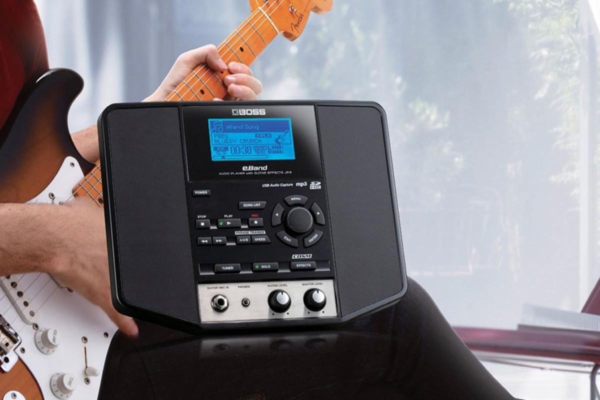 The BOSS eBand is designed for guitarists who play and practice at home