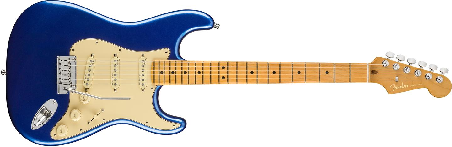 The American Ultra Series Stratocaster is available as a three single-coil pickup model or a humbucker/single/single model