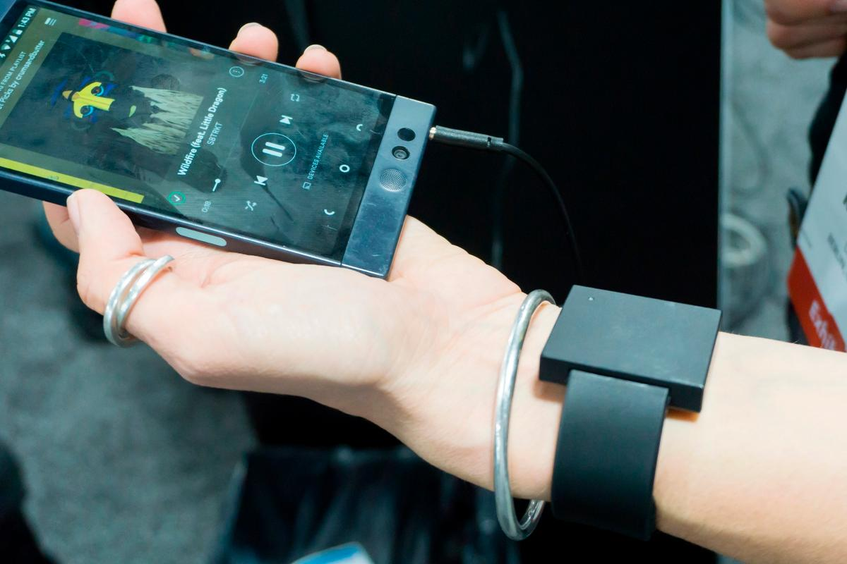 Basslet is a wearable that thumps your wrist in time with your music's bass