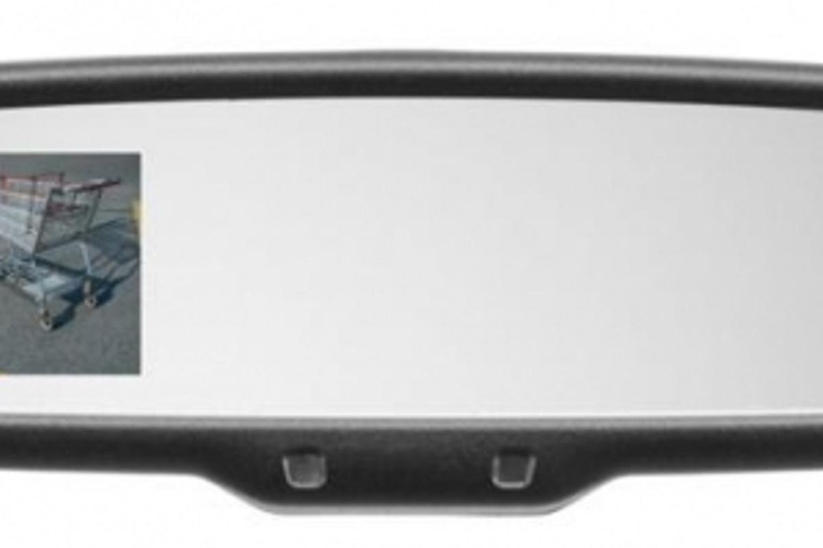 Mazda's multifunction auto-dimming rearview mirror, as aailable on the CX-9.