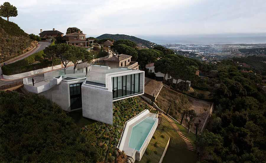 X House offers luxury living in the hills above Barcelona, Spain