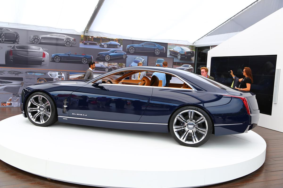 Cadillac's new Elmiraj concept made its world debut at Pebble Beach's 63rd annual Concours d'Elegance this past week (Photo: Angus MacKenzie/Gizmag.com)