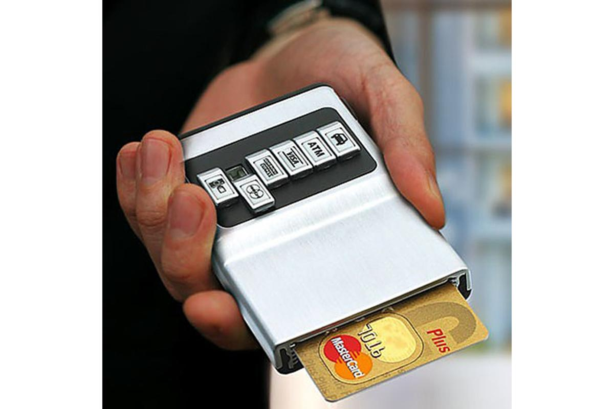 As its name suggests the Credit Card Holder holds your credit cards