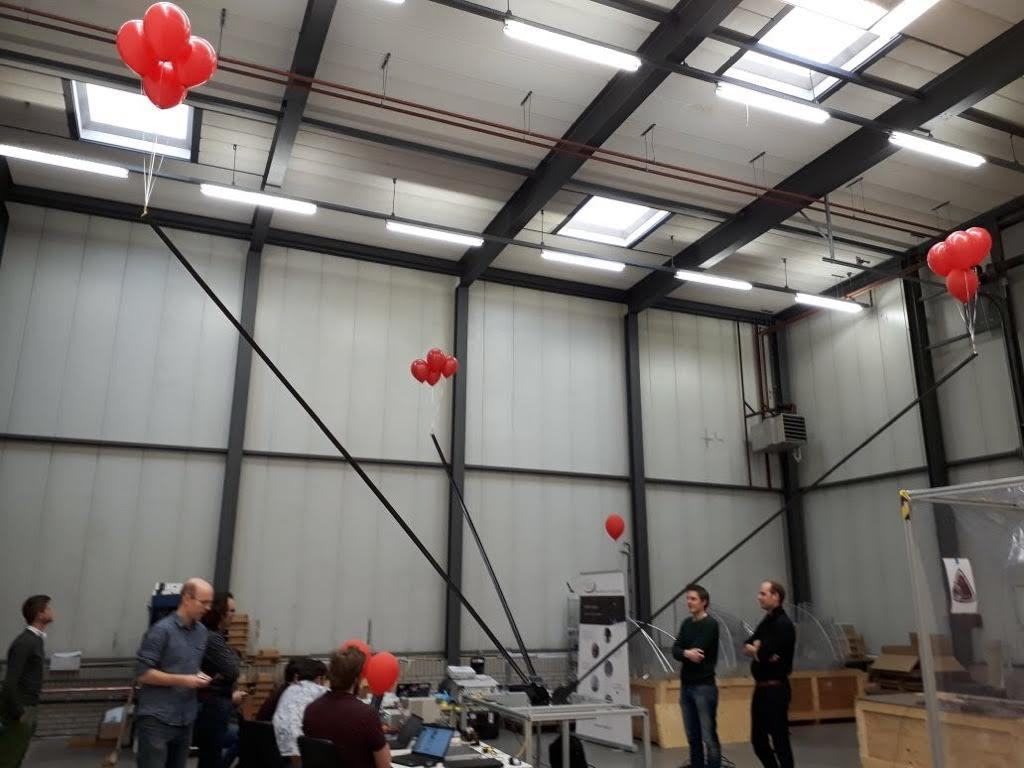 The NCLE (Netherlands-China Low-frequency Explorer) radio instrument uses three 5-meter-long carbon fiber antennas to capture the low-frequency signals