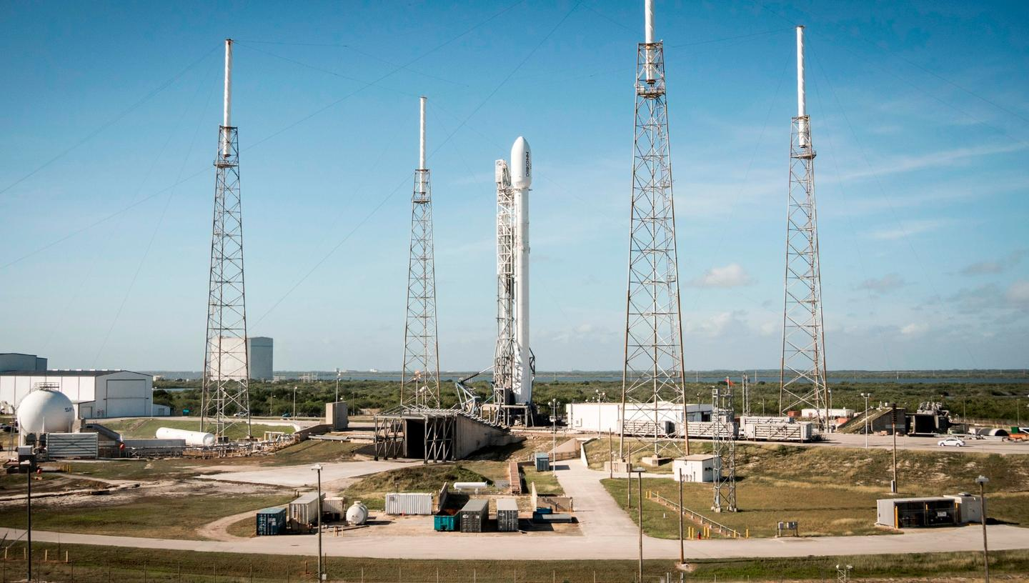 The Falcon 9 rocket set for a January launch is similar to this one used to launch Orbcomm 2