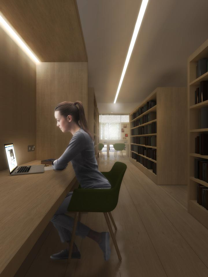 A study area in the new Research Center of the London Science Museum (Image: Coffey Architects)