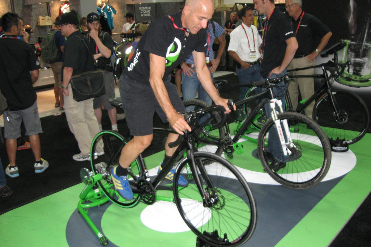 Kinetic's Rock and Roll cycle trainer, spotted by Gizmag at Interbike 2013