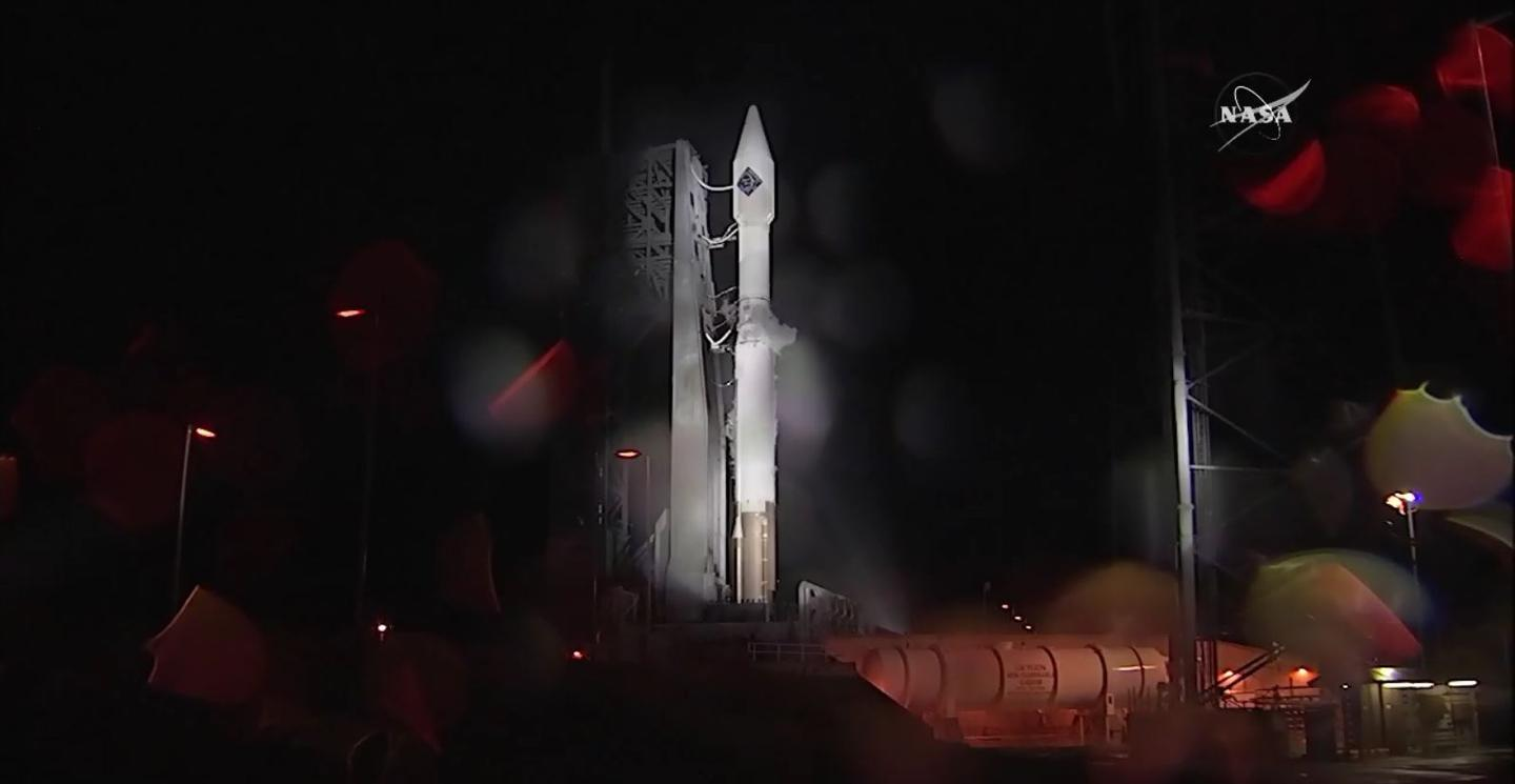 The launch was scrubbed at 6:11 pm EST due to poor weather conditions